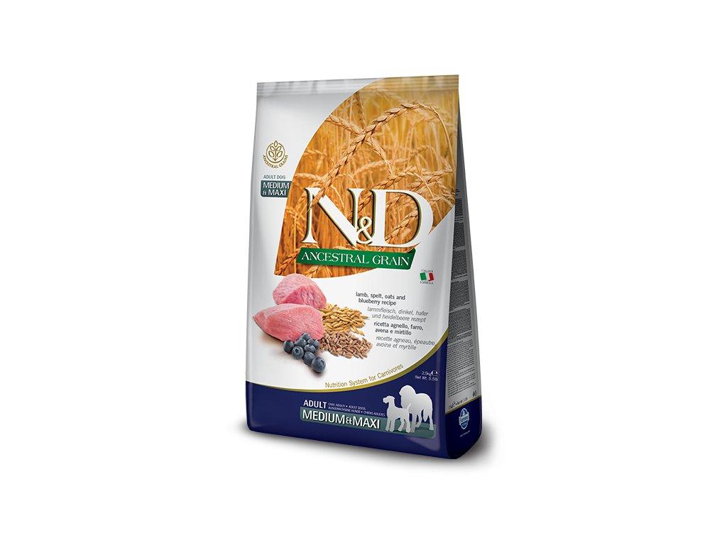 N&D LG DOG Adult M;L Lamb & Blueberry 12 kg