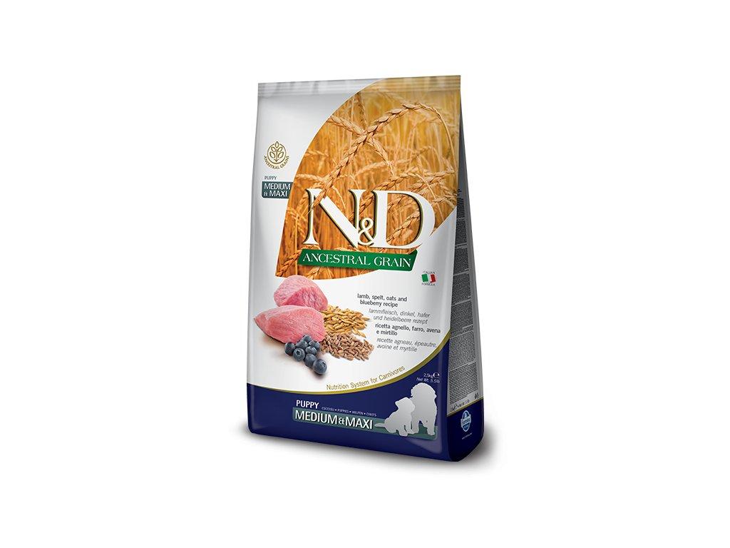 N&D Low Grain DOG Puppy M;L Lamb & Blueberry 12 kg