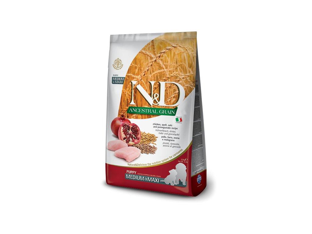 N&D LG DOG Puppy M;L Chicken & Pomegranate 12 kg