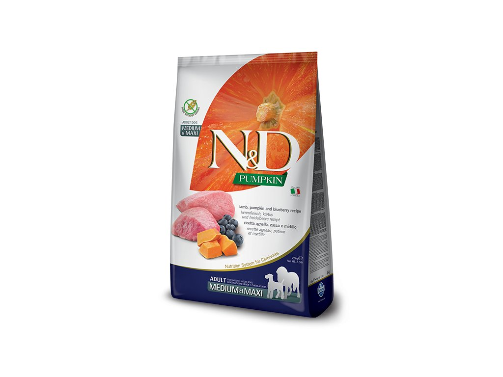 N&D Pumpkin DOG Adult M;L Lamb & Blueberry 12 kg