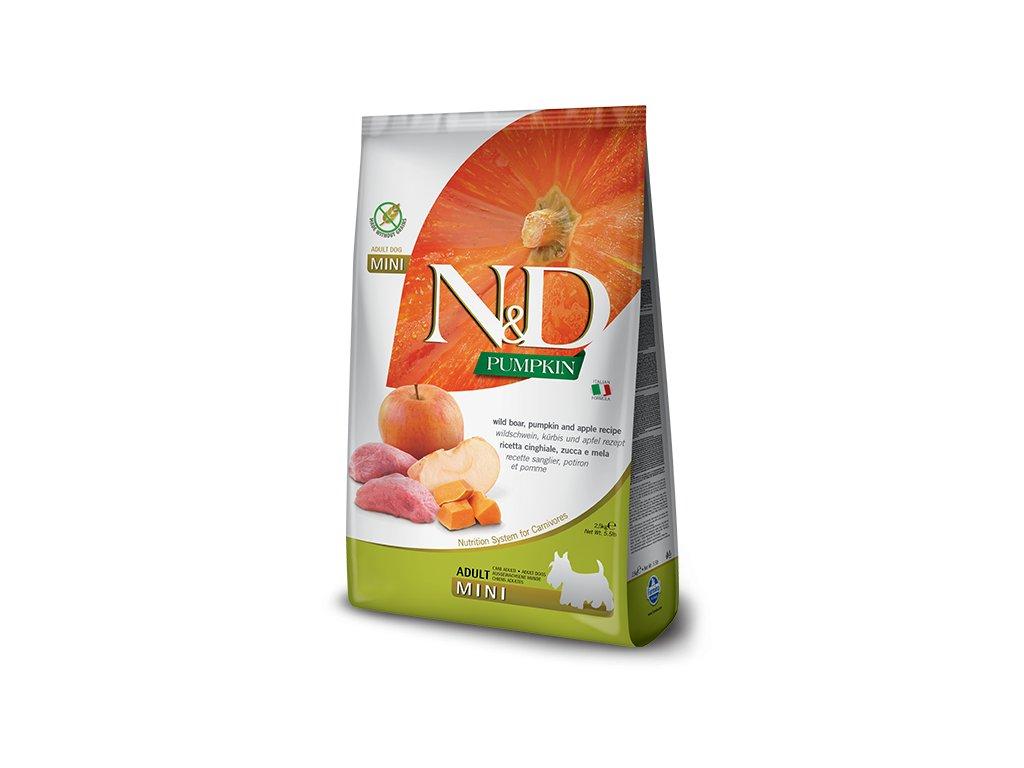 N&D Pumpkin DOG Adult Mini Boar & Apple 7 kg