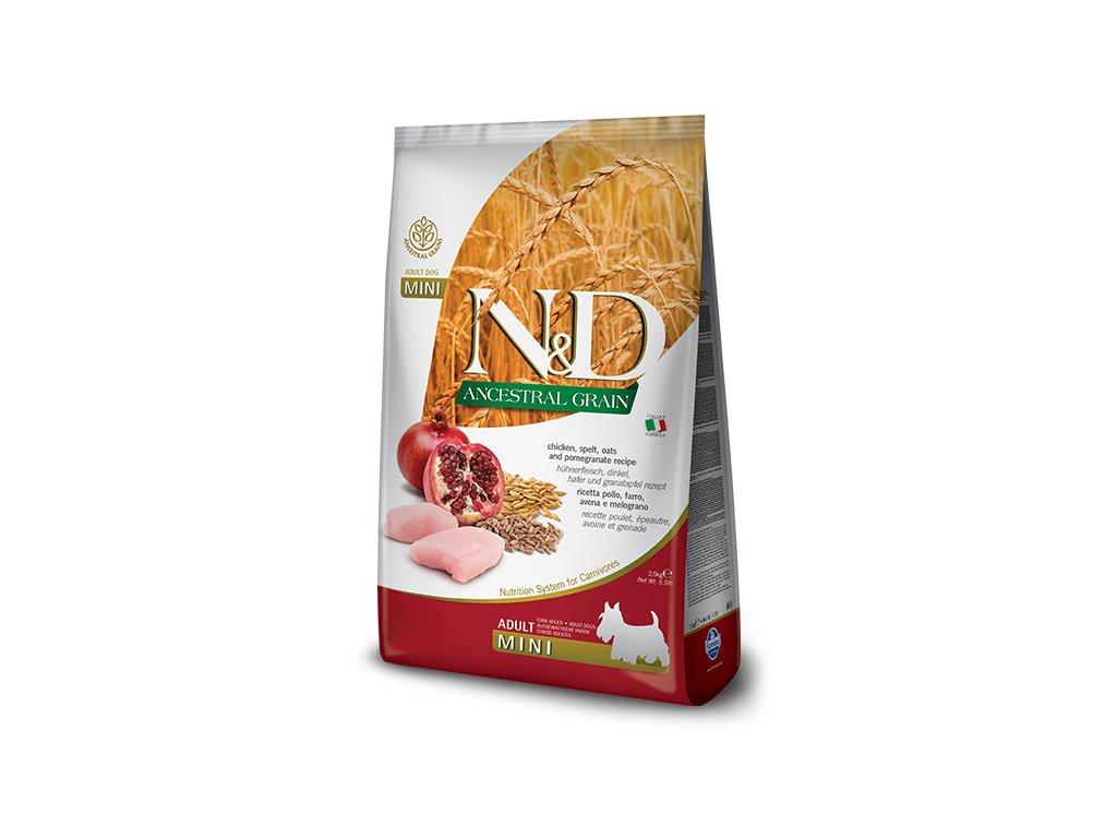 N&D Low Grain DOG Adult Mini Chicken & Pomegranate 7 kg