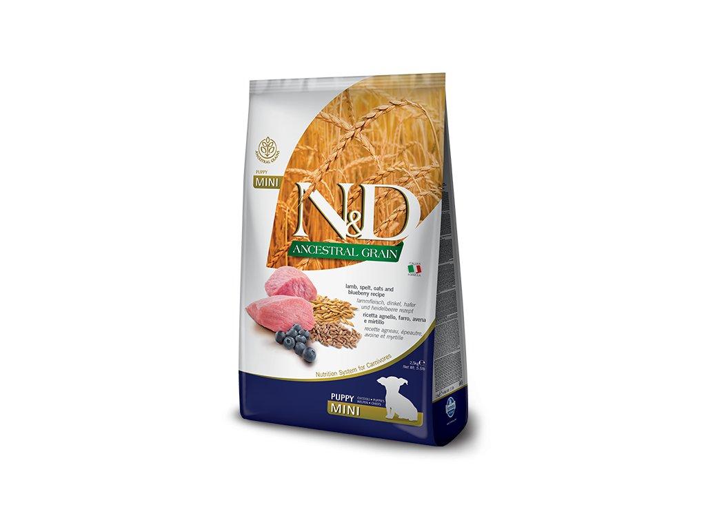 N&D Low Grain DOG Puppy Mini Lamb & Blueberry 2,5 kg