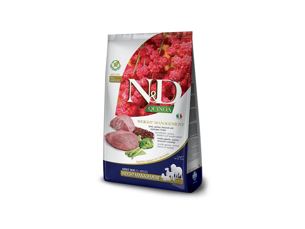 N&D Quinoa DOG Weight Management Lamb & Broccoli 7 kg