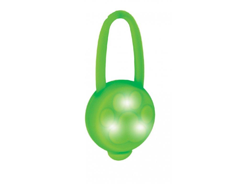 LED přívěsek na obojek silikonový zelený1