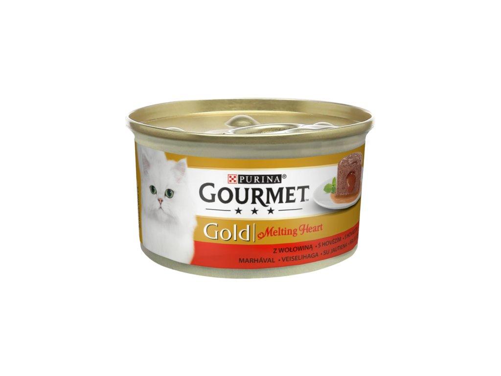 Gourmet Gold melting heart paštika s hovězím 85 g