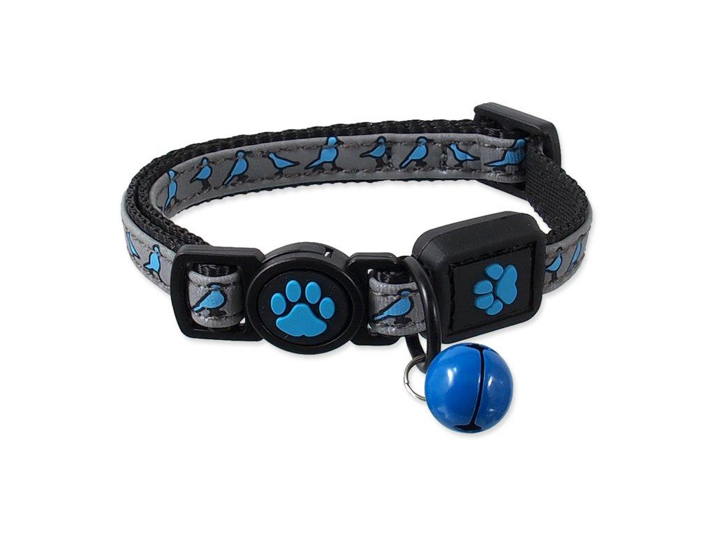 Obojek Active Cat Reflective XS modrý