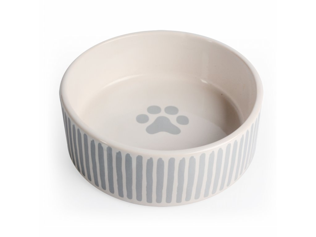 Miska porcelánová šedé proužky 12,5 cm