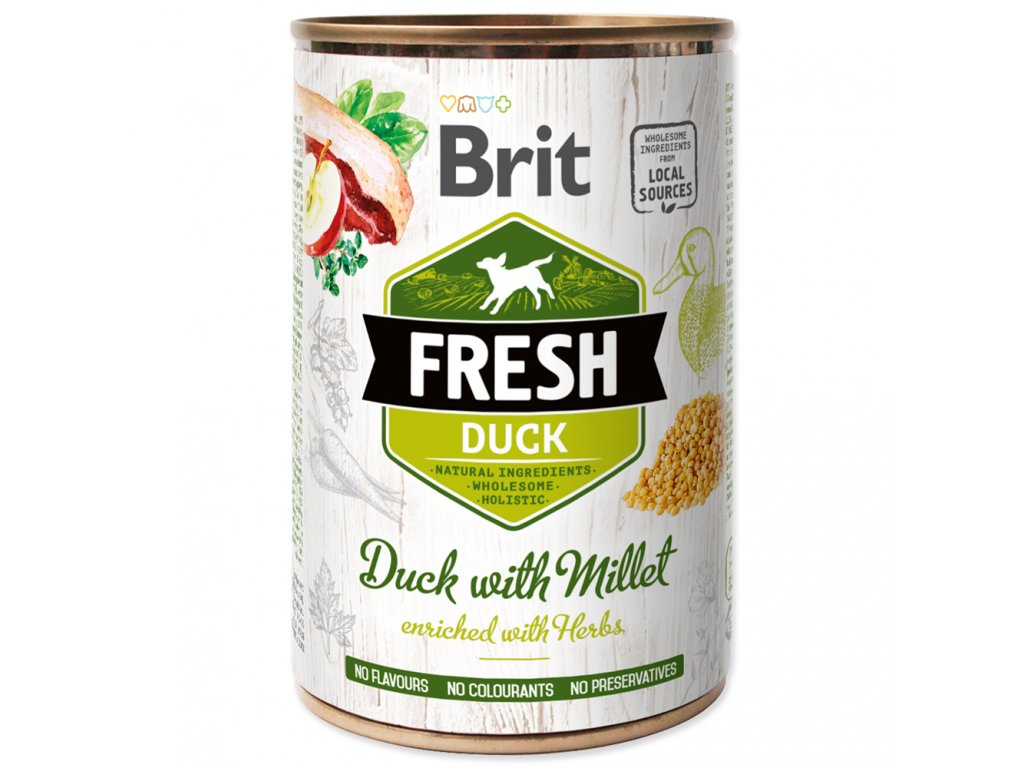 1442 brit fresh duck with millet 400 g
