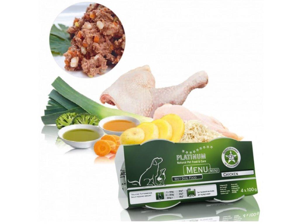 1469 1 platinum natural menu mini chicken 4x100 g