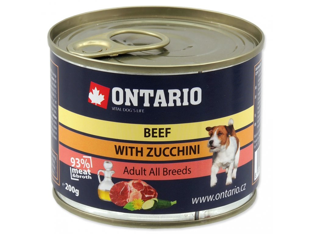 1595 ontario konzerva mini beef zucchini dandelion and linseed oil 200 g