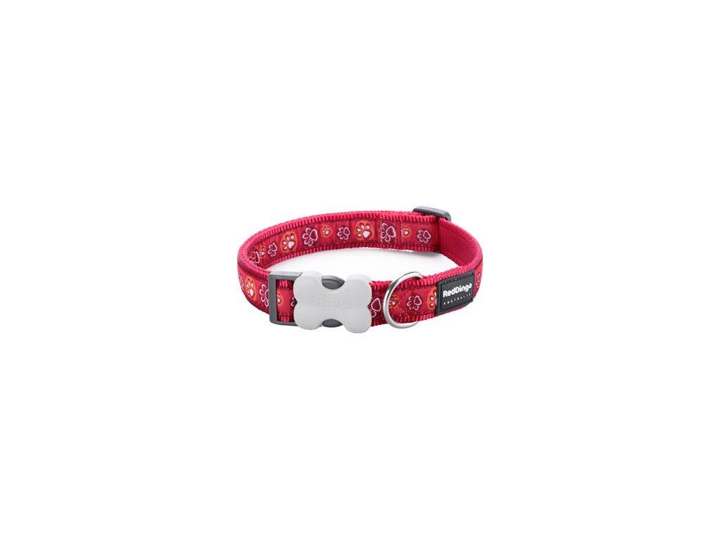1790 2 obojek red dingo 12 mm x 20 32 cm paw impressions red
