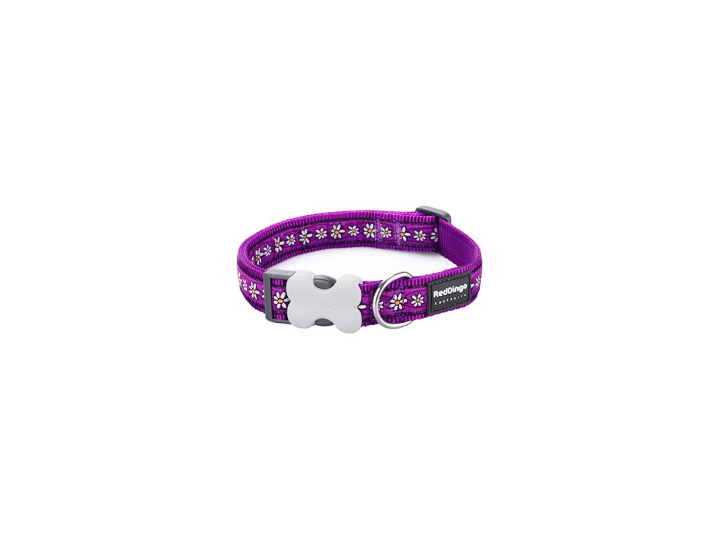 1799 2 obojek red dingo 15 mm x 24 37 cm daisy chain purple