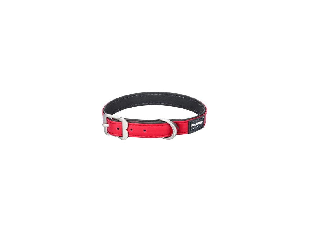 Obojek RED DINGO Elegant - Červený (Velikost 15 mm)