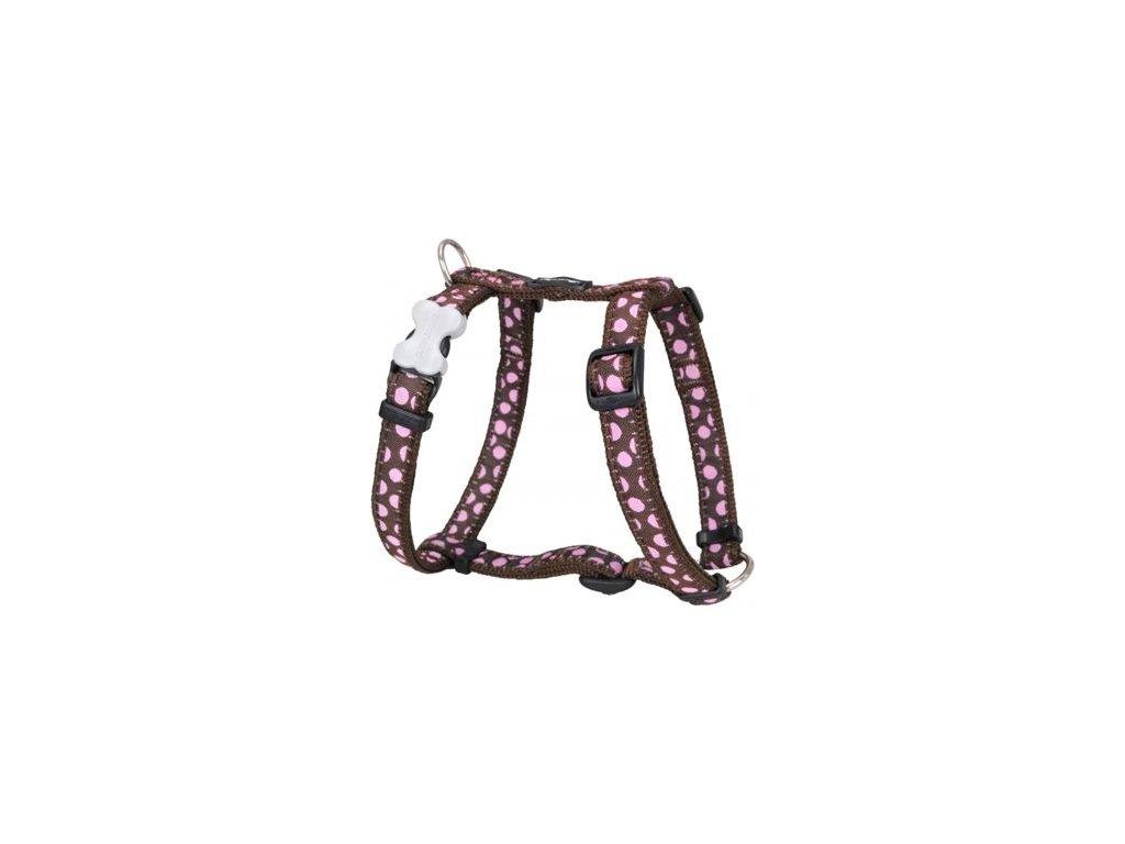 2138 2 postroj red dingo 12 mm x 30 44 cm pink spots on brown