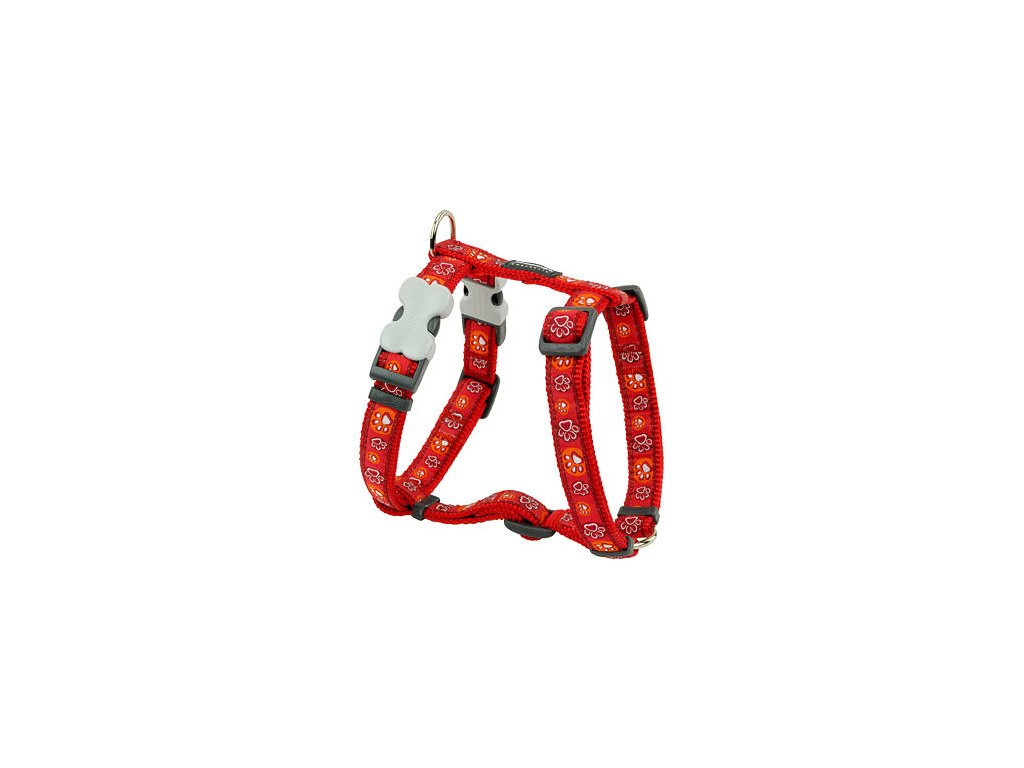2156 2 postroj red dingo 12 mm x 30 44 cm paw impressions red