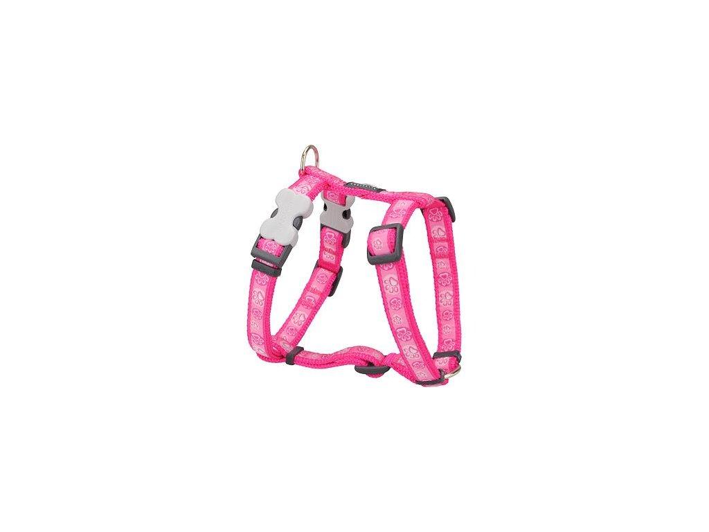 Postroj RED DINGO 25 mm x 56 80 cm Paw Impressions Hot Pink
