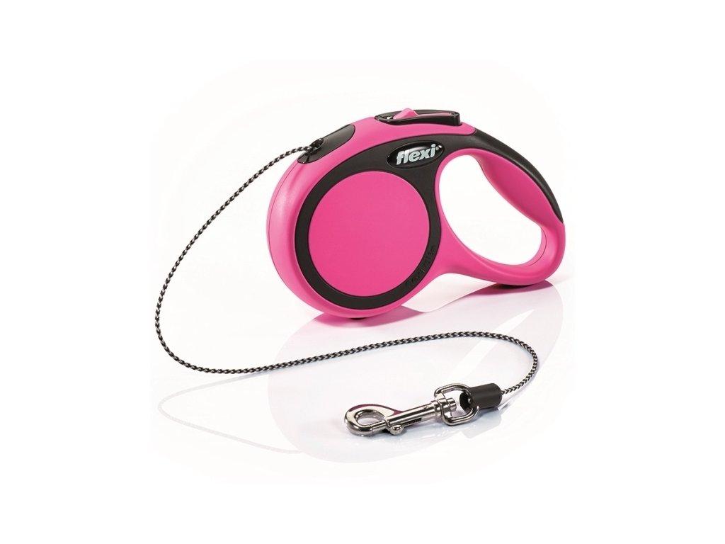 Vodítko FLEXI Comfort XS lanko 3 m / 8 kg (Barva Růžová)