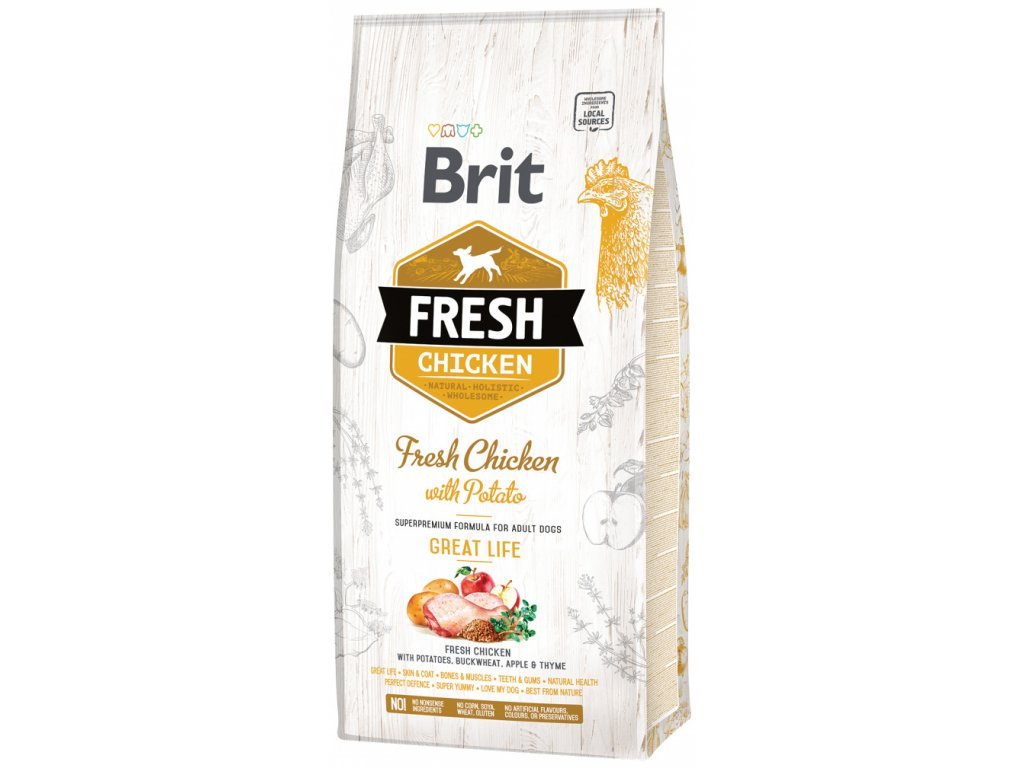 3821 1 brit fresh chicken with potato adult great life 12 kg