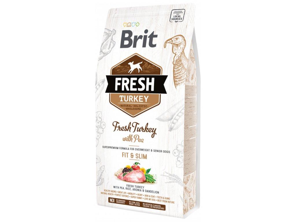 3836 1 brit fresh turkey with pea adult fit slim 2 25 kg
