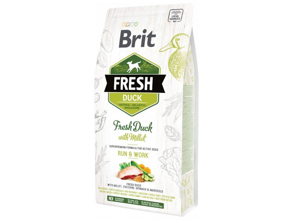 3842 1 brit fresh duck with millet adult run work 2 25 kg