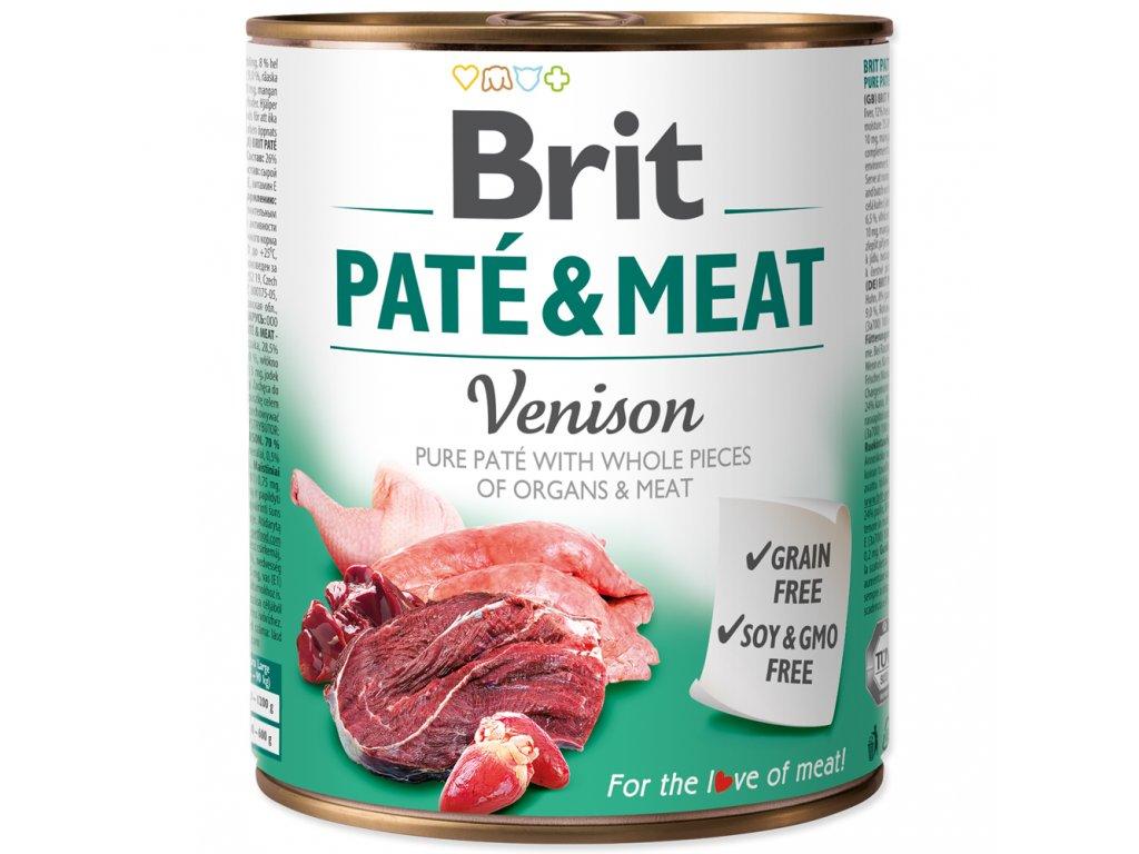 3899 brit konzerva pate meat venison 800g
