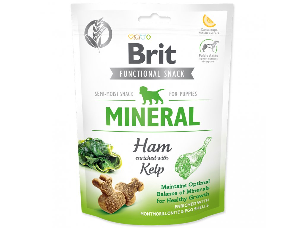 3902 brit care dog functional snack mineral ham for puppies 150 g