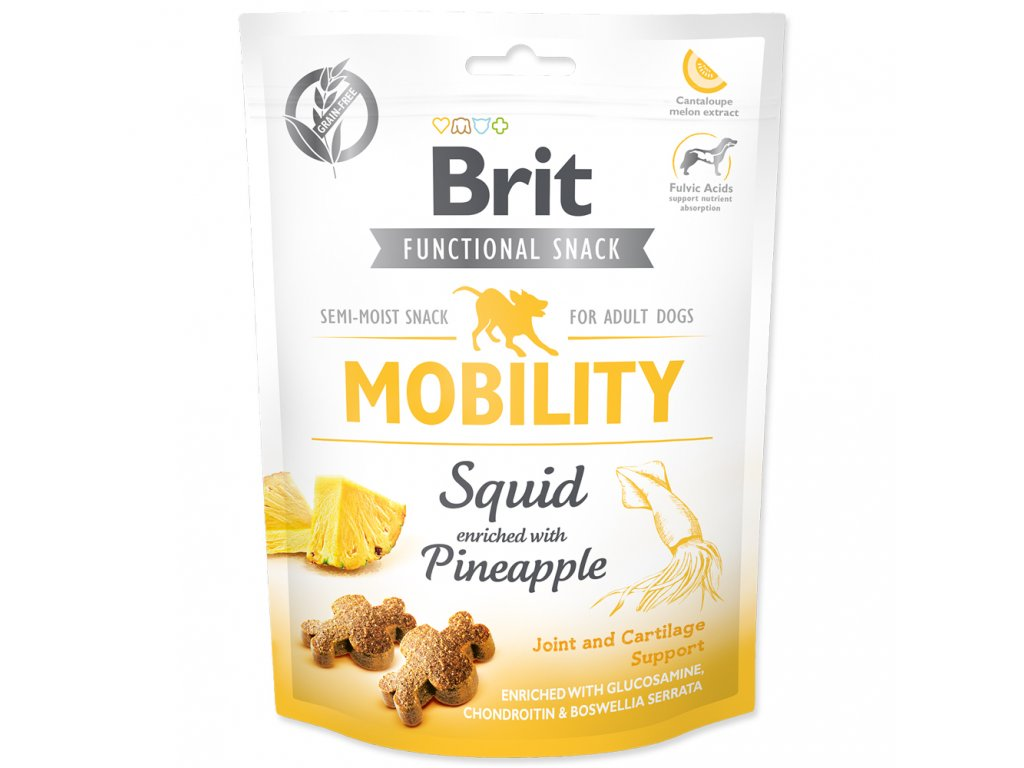 3905 brit care dog functional snack mobility squid 150 g