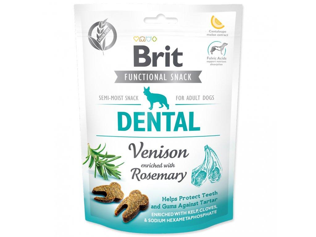 3914 brit care dog functional snack dental venison 150 g