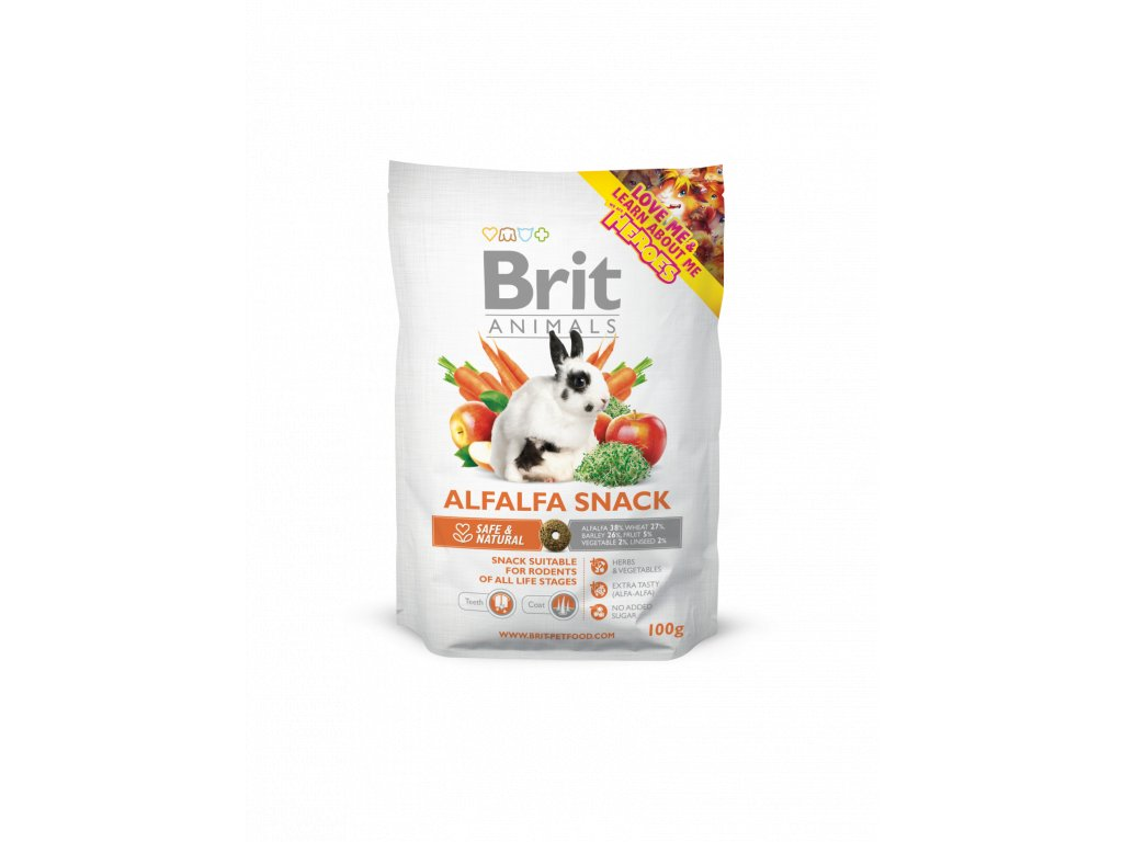 488 Brit Animals alfalfa snack for rodents 100 g