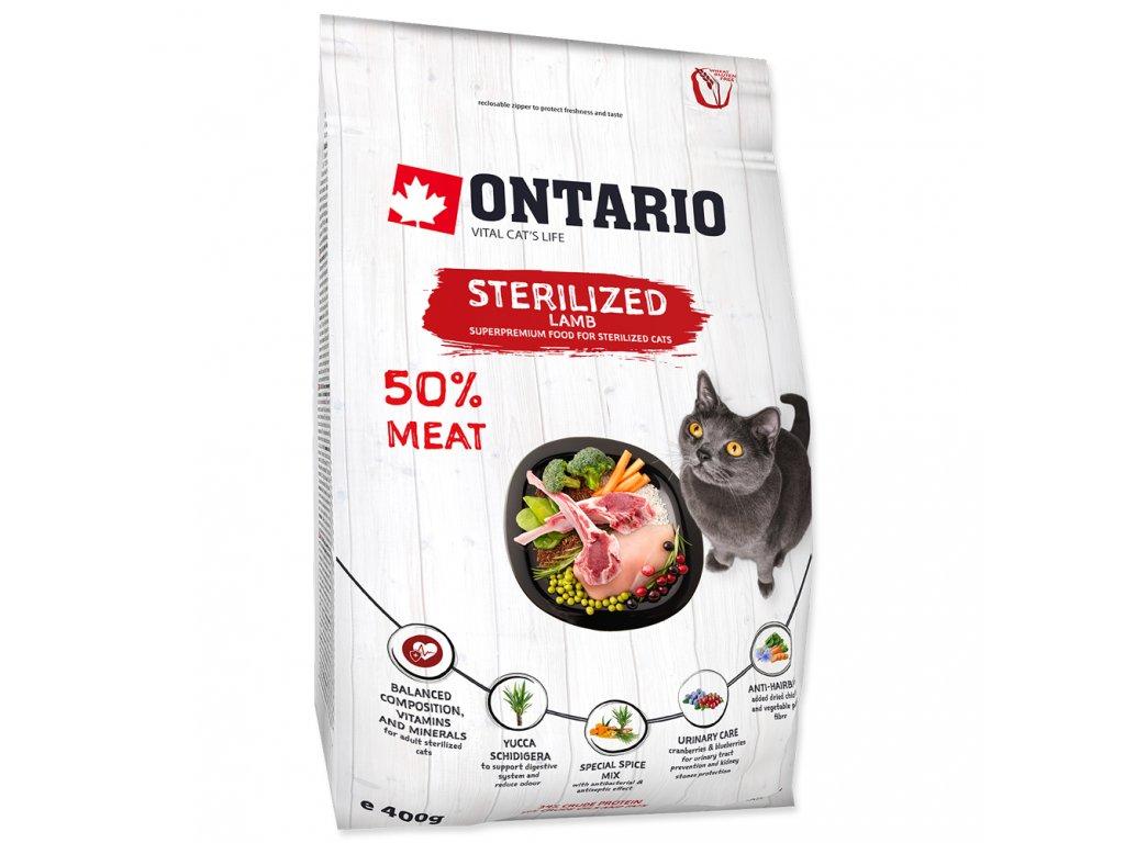 758 1 ontario cat sterilised lamb 400 g