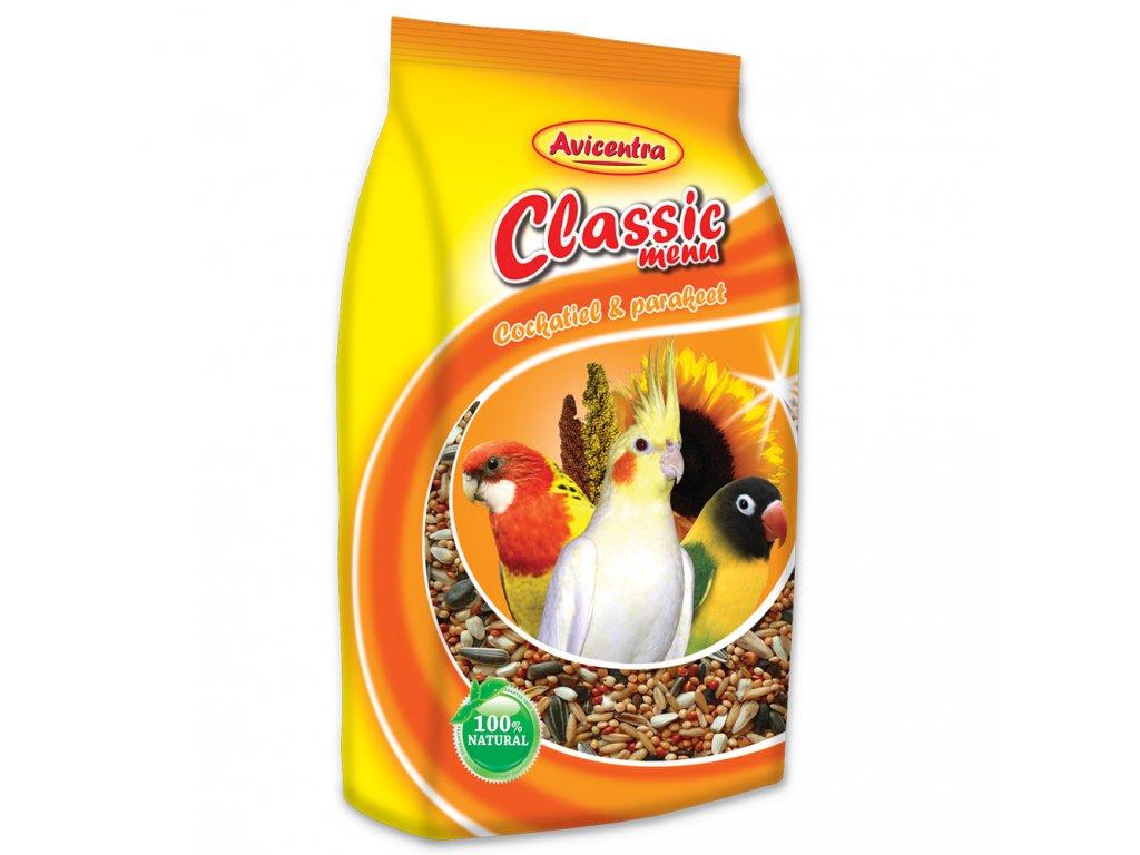 77 1 Avicentra classic menu pro male a stredni papousky 1 kg
