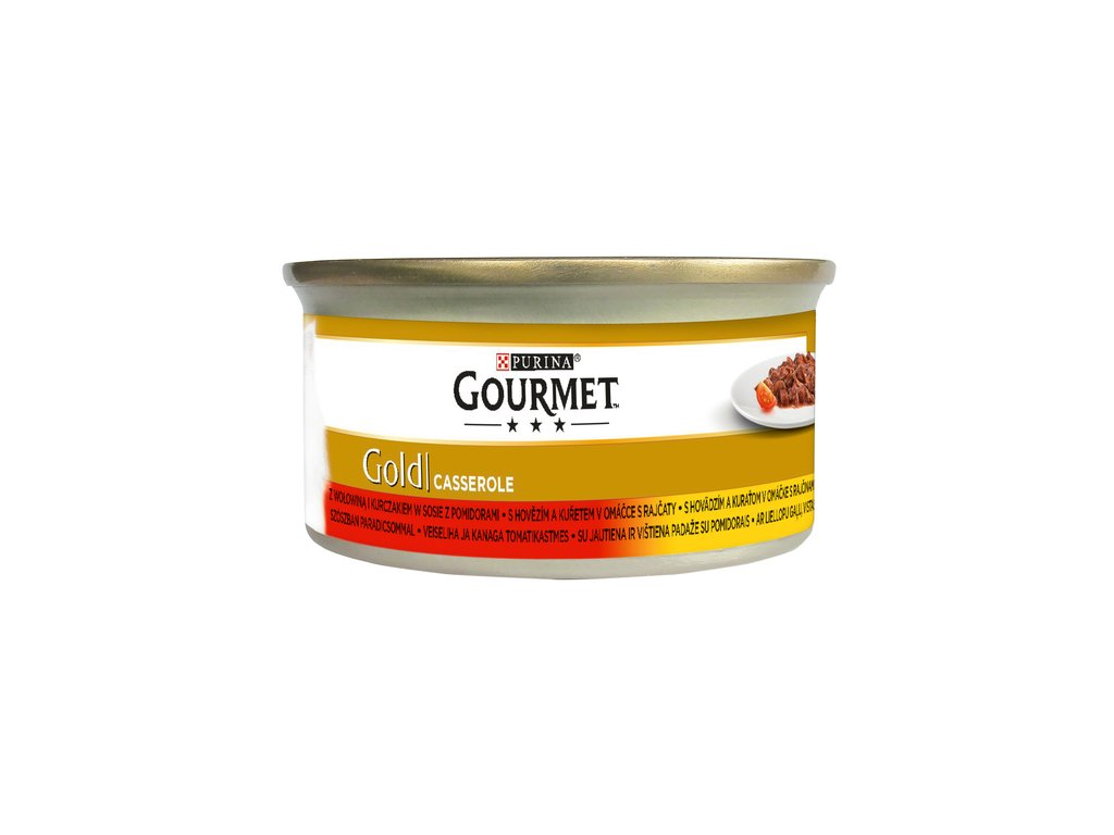 863 1 gourmet gold s hovezim a kuretem v rajcatove omacce 85 g