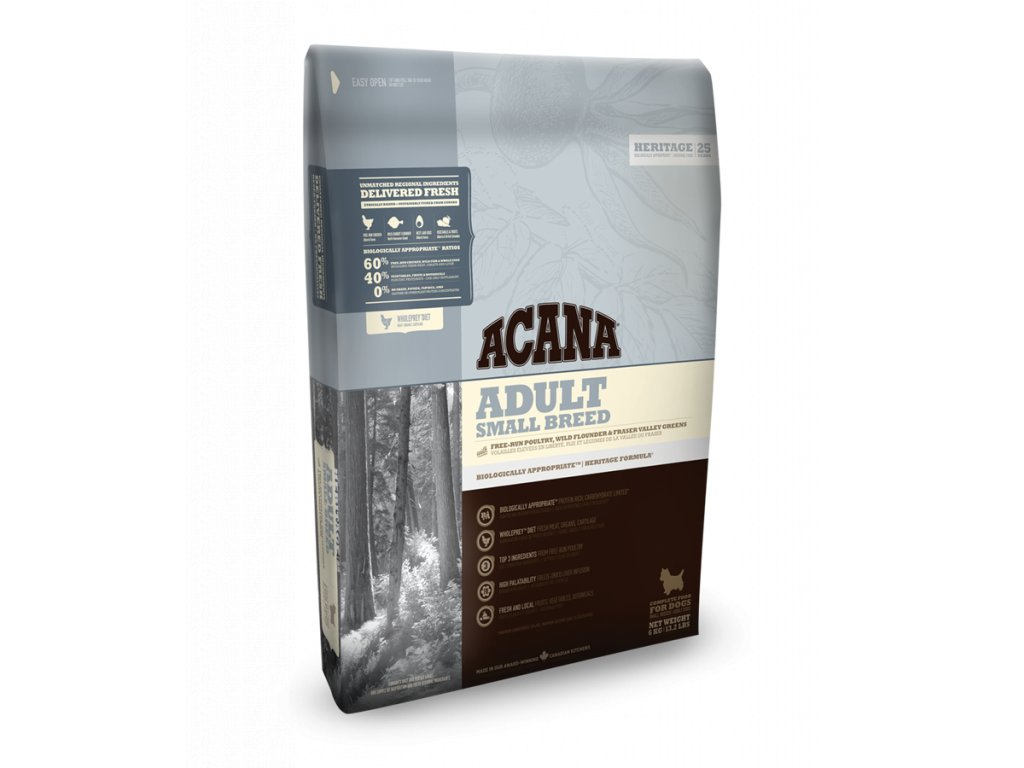 4286 acana heritage adult small breed 2 kg