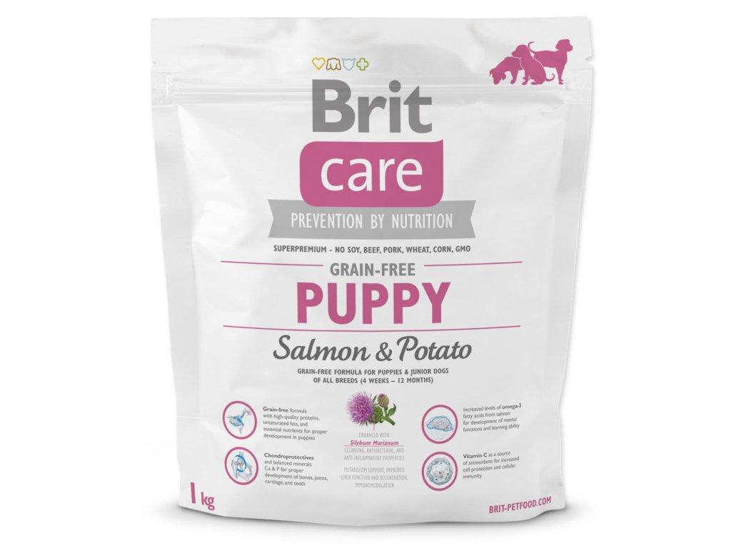 998 1 brit care grain free puppy salmon potato 1 kg