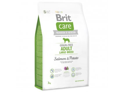 1028 1 brit care grain free adult large breed salmon potato 3 kg