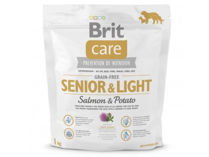 1043 1 brit care grain free senior light salmon potato 1 kg