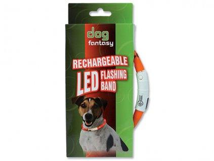 4850 3 obojek dog fantasy led svetelny oranzovy 70 cm