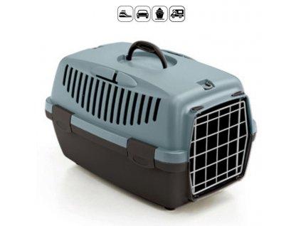 Přepravka pro psy a kočky Gulliver 1 s kovovou mřížkou