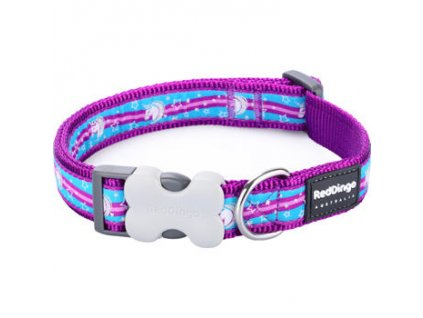 Obojek Red Dingo 12 mm x 20 32 cm Unicorn Purple