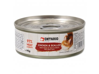 Konzerva Ontario Chicken Pieces + Scallop 95 g