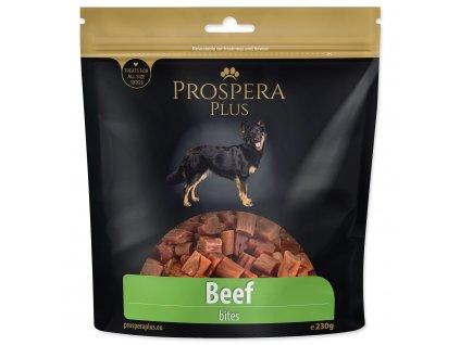 Pochoutka Prospera Plus kousky z hovězího masa 230 g