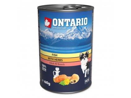 Konzerva ONTARIO Dog Mini Multi Fish and Salmon Oil 400 g