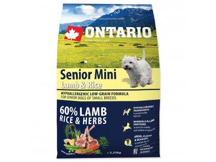 1166 ontario senior mini lamb rice 2 25 kg