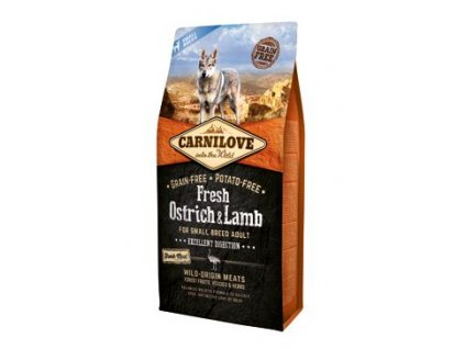 Carnilove Dog Fresh Ostrich&Lamb for Small Breed 6 kg