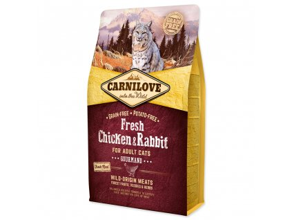 CARNILOVE Cat Fresh Chicken & Rabbit for Adult Cats Gourmand 2 kg