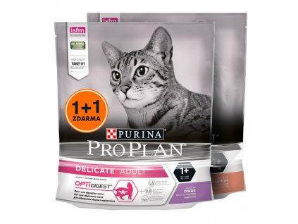 Produkt PRO PLAN Cat Adult sterilised 1+1 ZDARMA krůta+losos 2x 400 g