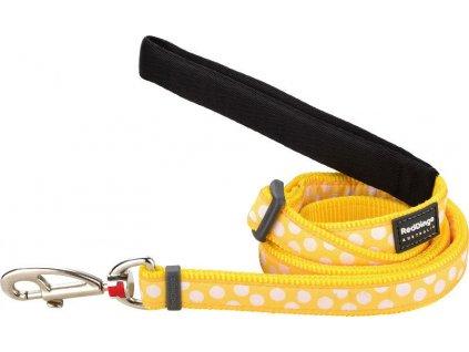Vodítko Red Dingo 15 mm x 1,8 m White Spots on Yellow