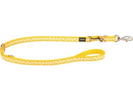Vodítko Red Dingo přep. 12 mm x 2 m White Spots on Yellow