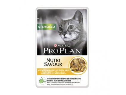 PRO PLAN CAT STERILISED Kuřecí kapsička 85 g